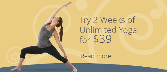2 weeks unlimited yoga for $39